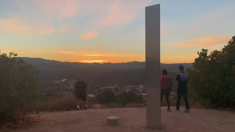 It's unclear who, or what, brought it up but hikers have been climbing roughly two miles up...