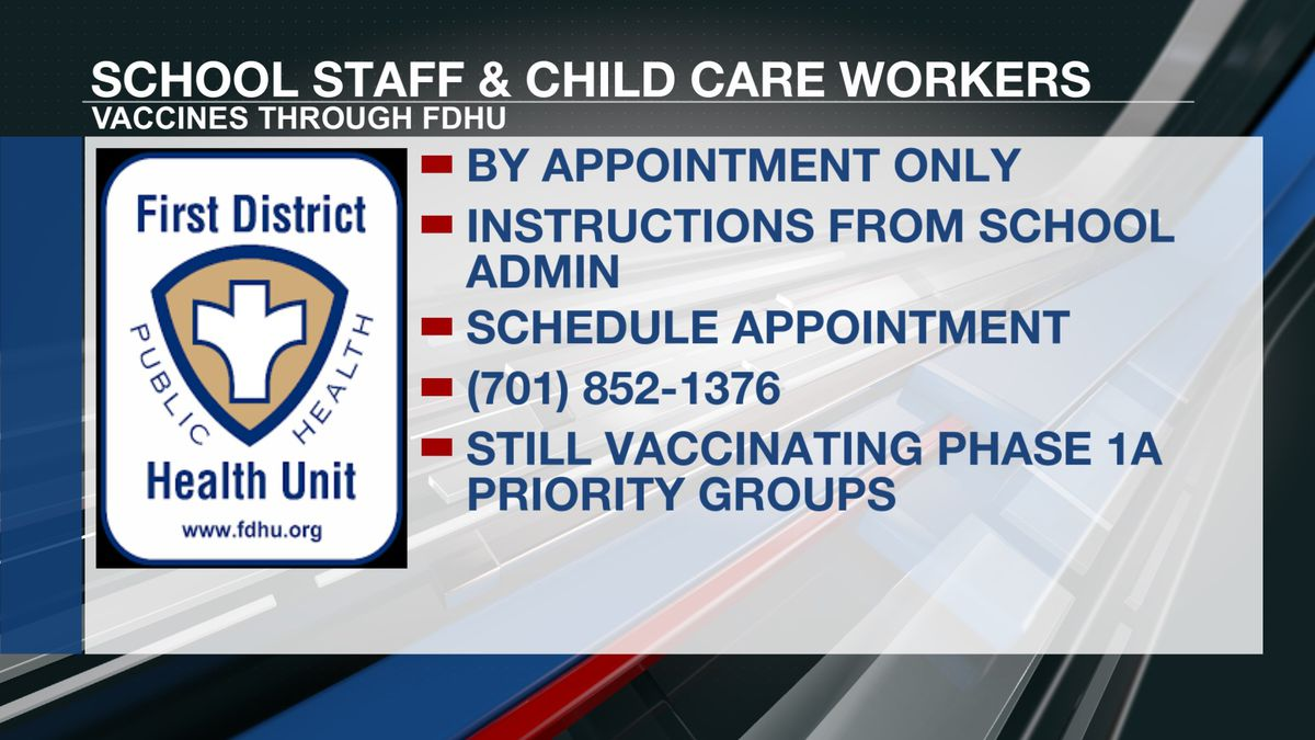 Educators, childcare workers can now get vaccinated through First District