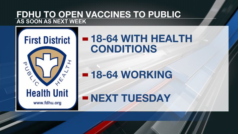 Leadership with FDHU said they are planning to offer vaccinations to all as soon as next Tuesday.