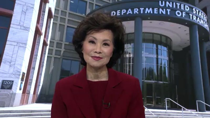 Department of Transportation Secretary Elaine Chao discusses the impact of $464 million in bus...
