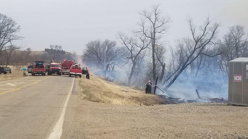 Logan grass fire