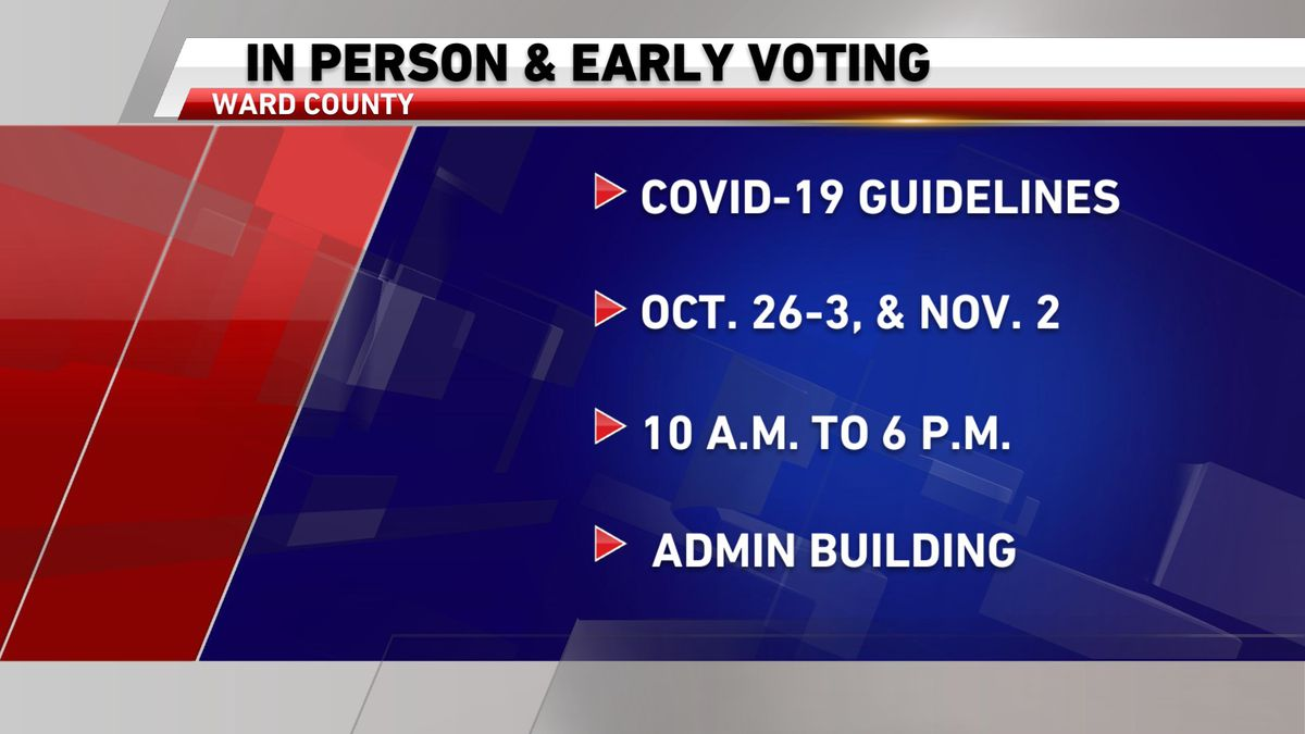 Ward County preps for in-person voting