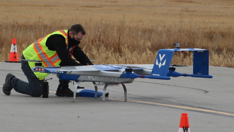 Northern Plains UAS tests a drone in Williston in 2020