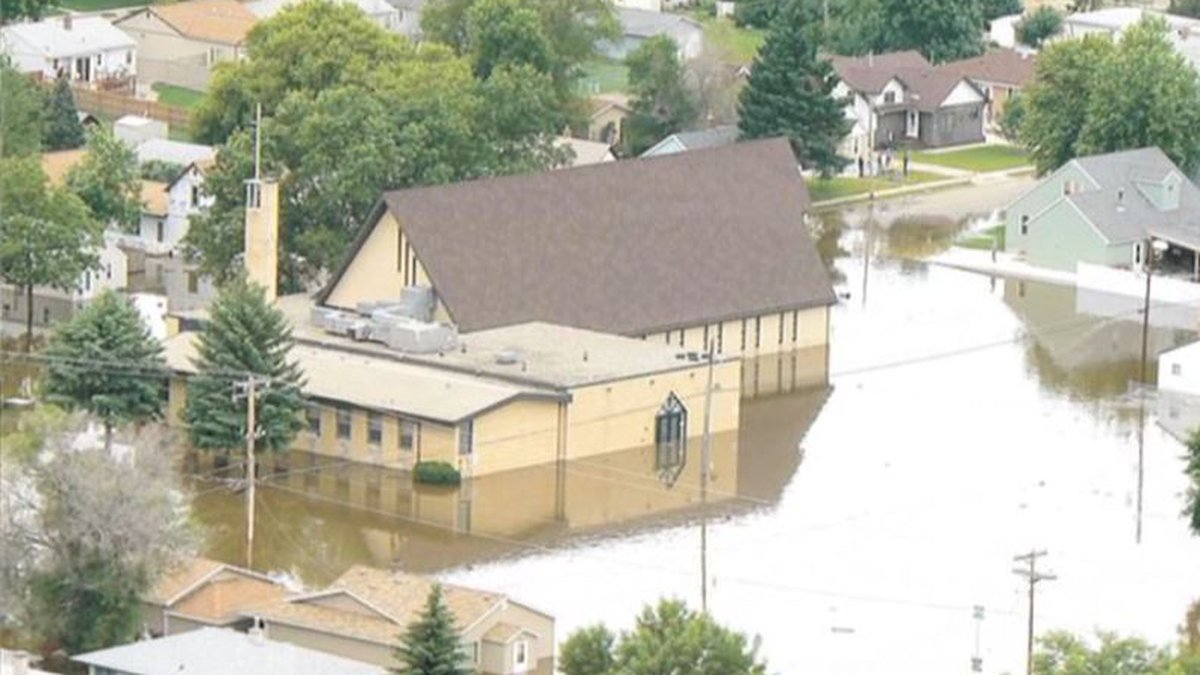 Similar to the great flood with Noah, Christ Lutheran Church was hit by the Minot flood of 2011.