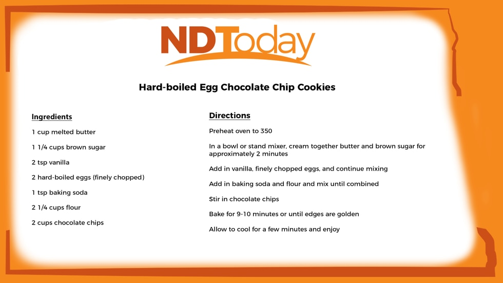 Hard-boiled egg chocolate chip cookies recipe