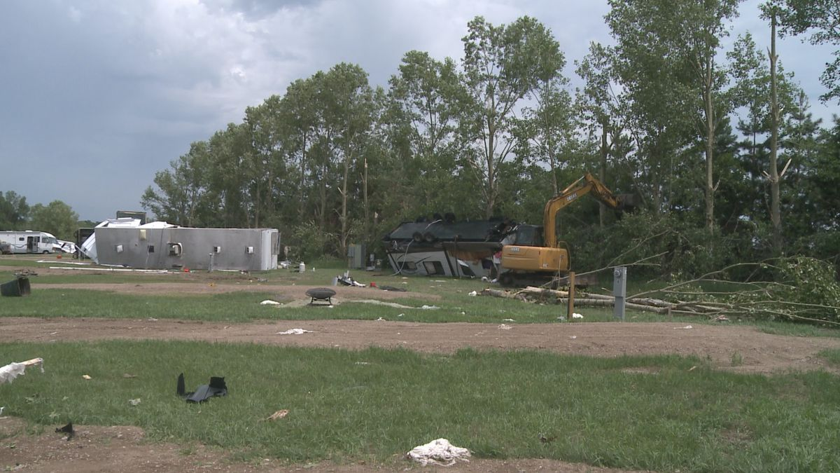 Severe weather wreaked havoc on a RV park along Otter Tail Lake.