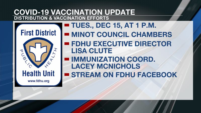 First District Health Unit to address local COVID-19 vaccine efforts