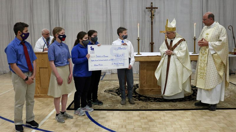 Seventh-graders at St. Mary's Academy recently completed a very impressive enterprise; they...