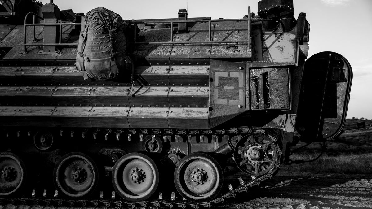 A U.S. Marine Corps AAV-P7/A1 assault amphibious vehicle is shown at Marine Corps Base Camp Pendleton, California, July 11. One Marine has died, two injured and eight others are missing after an amphibious assault vehicle accident off the coast of southern California.