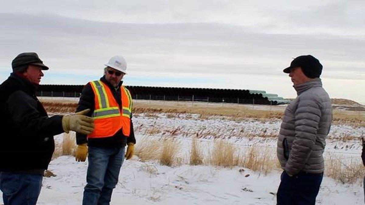 Governor Greg Gianforte visits Keystone XL Pipeline site