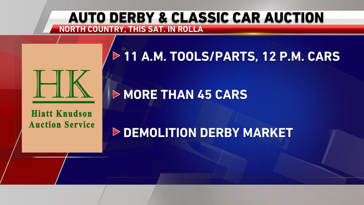 Auto derby and classic car auction this Saturday in Rolla