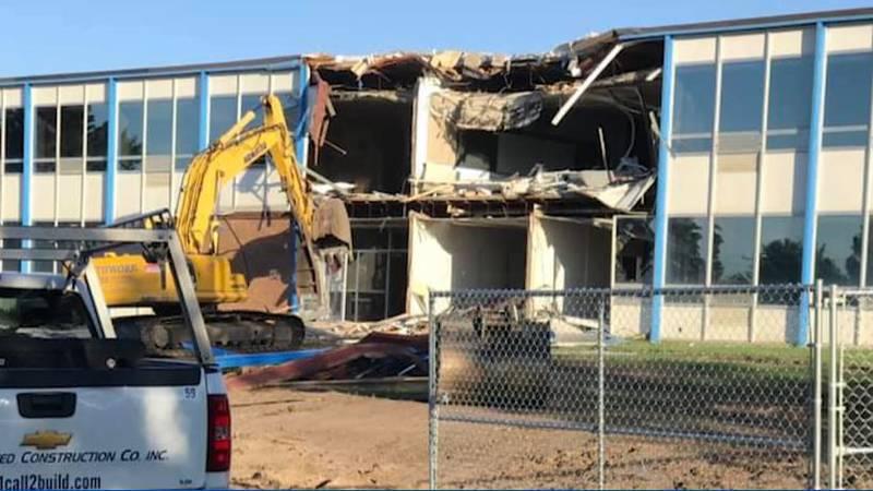 Beulah High School demolition