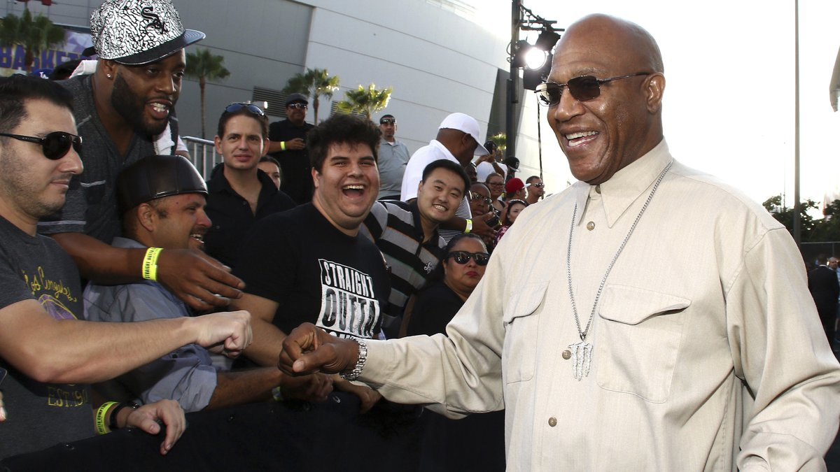 In this Monday, Aug. 10, 2015 file photo, Tommy 'Tiny' Lister greets fans as he arrives at the...