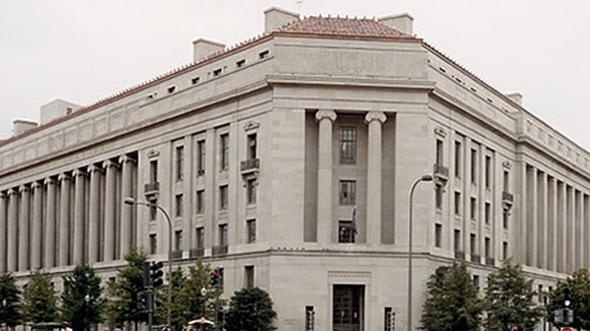 The Robert F. Kennedy Department of Justice Building in Washington.