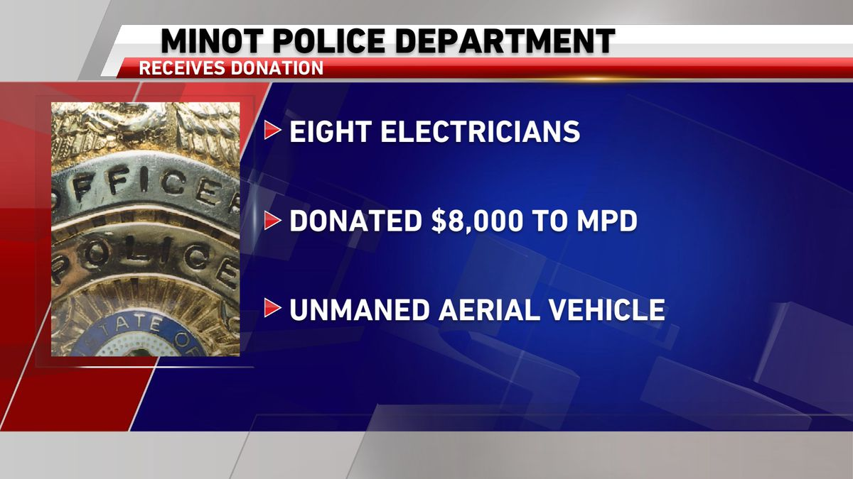 The Minot Police Department recently received a donation from a union of regional electricians.