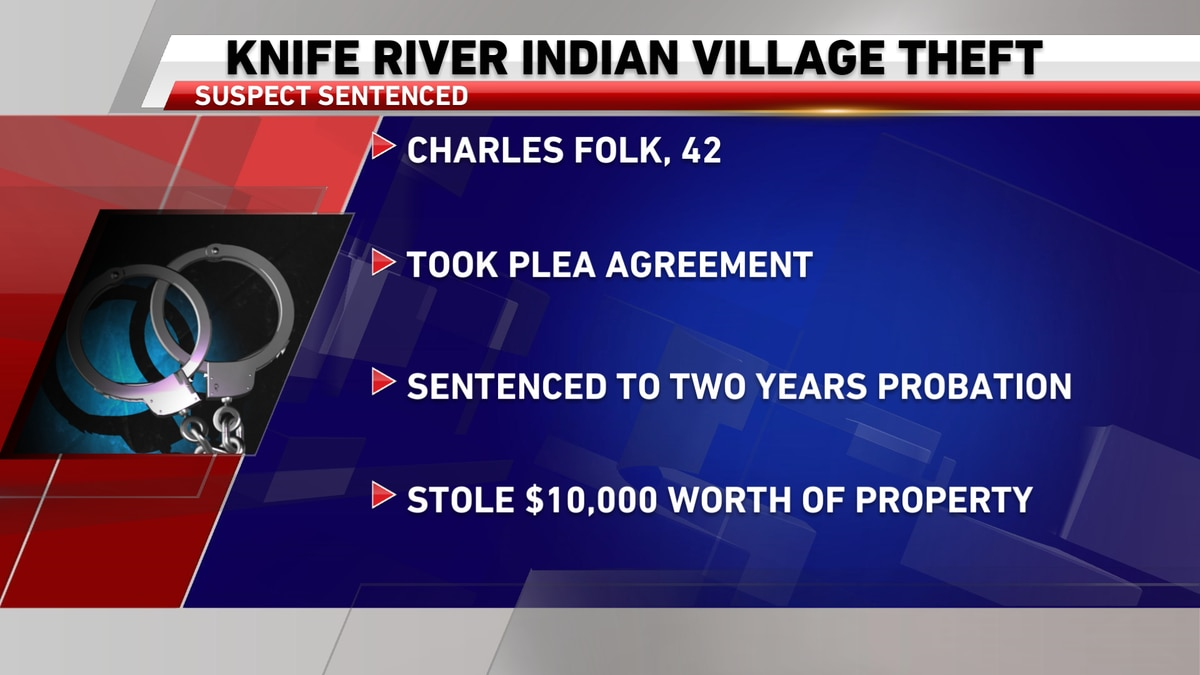 Government worker sentenced for stealing from Knife River Indian Villages