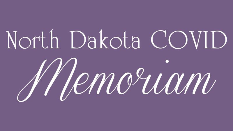 North Dakota COVID-19 Memoriam Graphic