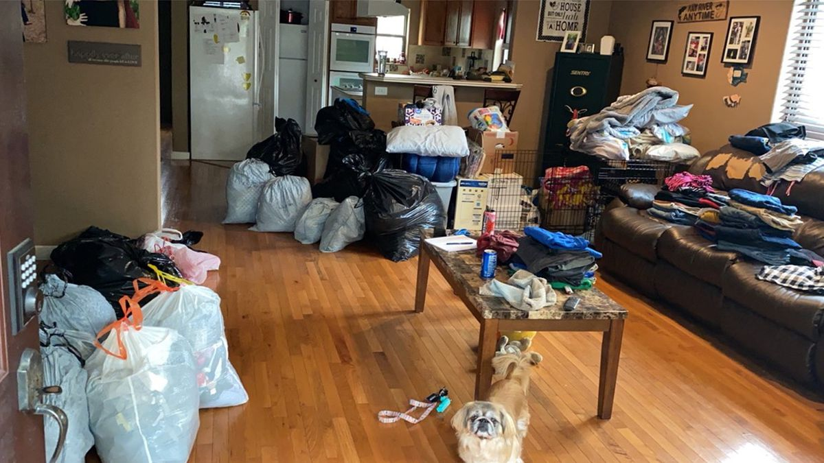 Working with just her mom, Araya Ferrell is taking donations like clothes, toys, books, personal items, and non-perishable foods.